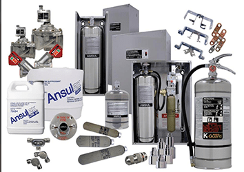 Ansul Restaurant Fire Suppression Tanks And Accessories